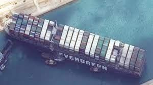 Ever Given Containers Ship Blocking Suez Canal